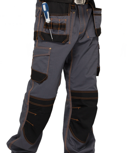 Safety Heavy Duty Work Pants 65% PL 35% C With Tuck Way Holster Pockets