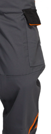 PRO Heavy Duty Bib Work Pants Woven Twill Fabric With Multi Storage Pockets
