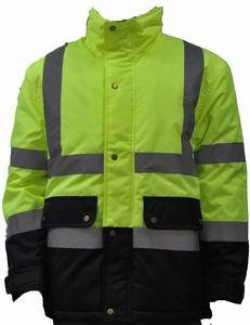 Warmth High Visibility Work Uniforms Comfortable Waterproof Hi Vis Winter Jacket