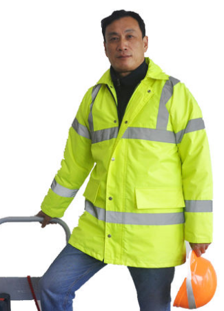 High Visibility Winter Work Jackets , Heavy Duty 300D Oxford Reflective Winter Jackets
