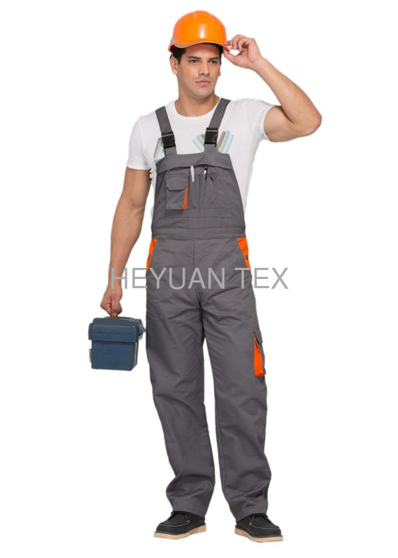 Durable Multi Size Mens Bib And Brace Workwear With Comfortable Elastic Waist