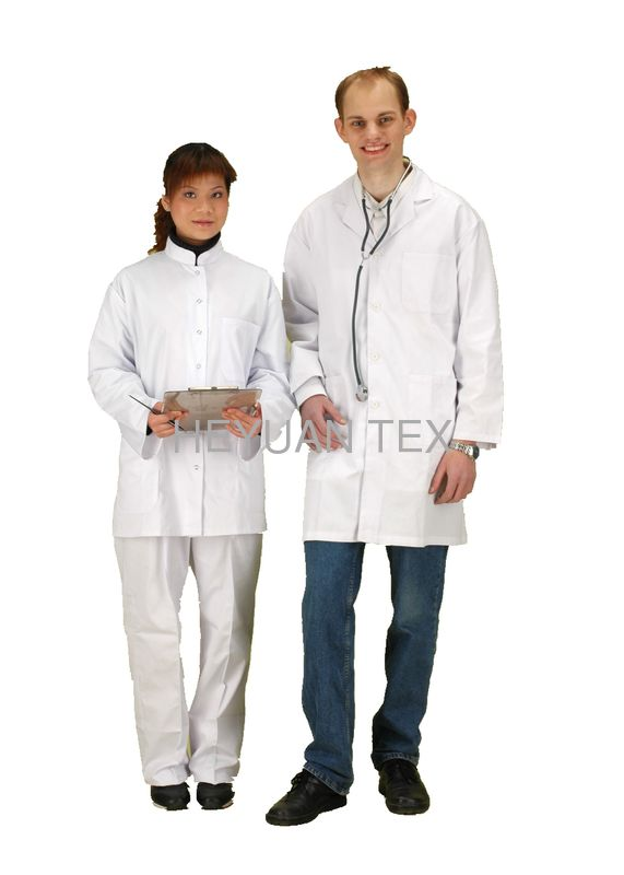 Customized White Doctor Lab Coat , Multi Care Clinic Hospital Medical Doctor Uniform