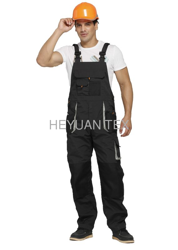 Safety Waterproof Bib And Brace Overalls With Knee Pads , Work Bib Overalls