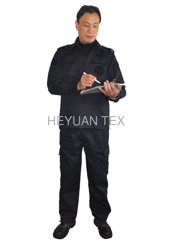 Public Security Guard Uniform / Anti Wrinkle Emergency Firefighter Dress Uniform