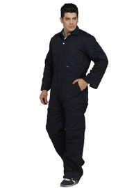 Black / Navy Winter Work Coveralls Cold Resistance Durable For Industry