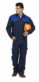 China Safety Industrial Work Uniforms Navy / Royal Blue Two Colors With Reflective Piping factory
