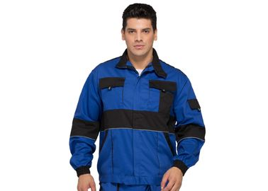 Functional Heavy Duty Mens Warm Work Jackets Safety With Reflective Piping