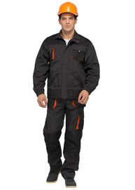 China Hardwearing Classic Industrial Worker Uniform With 65% Polyester 35% Cotton Canvas factory