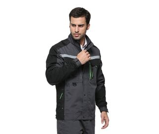 Practical Work Safety Jackets / Waterproof Workwear Jackets With Stand Up Collar