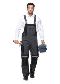 Comfortable Winter Bib Pants , Tear Resistant Bib And Brace Overalls With Reflective Tape