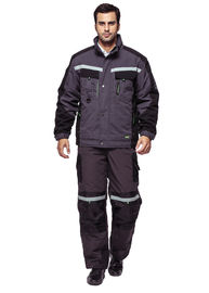 Warm Winter Work Coveralls / Outdoor Winter Workwear With Multi Functional Pockets