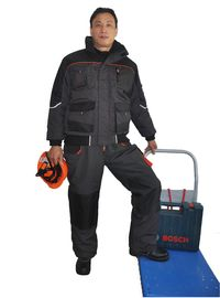 Padded Canvas Winter Work Coveralls Comfortable With Elasticated Cuffs And Waist